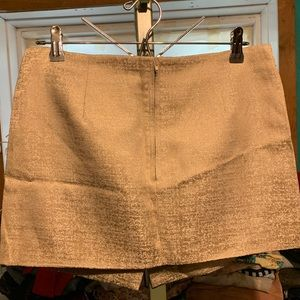 Champagne colored miniskirt